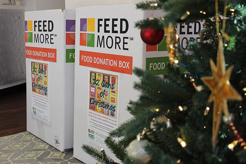 KBS 12 Cans of Christmas Donation Boxes
